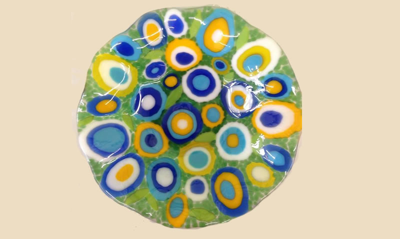 Elegant Fused Glass Plate Pictures